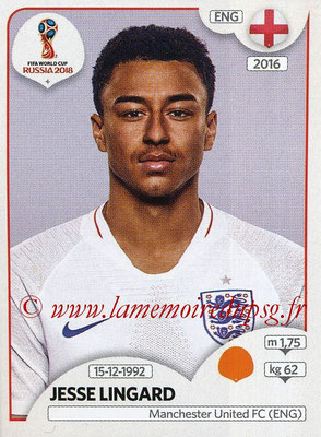 2018 - Panini FIFA World Cup Russia Stickers - N° 587 - Jesse LINGARD (Angleterre)