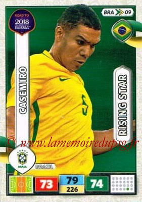 2018 - Panini Road to FIFA World Cup Russia Adrenalyn XL - N° BRA09 - CASEMIRO (Brésil) (Rising Star)