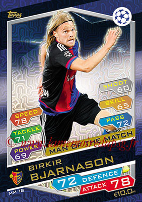 2016-17 - Topps UEFA Champions League Match Attax - N° MM18 - Birkir BJARNASON (FC Bale ) (Man of the Match)