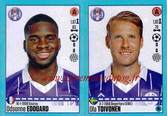 2016-17 - Panini Ligue 1 Stickers - N° 840 + 841 - Odsonne EDOUARD + Ola TOIVONEN (Toulouse)