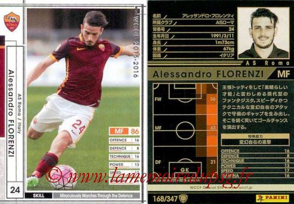 2015-16 - Panini WCCF - N° 168 - Alessandro FLORENZI (AS Roma)