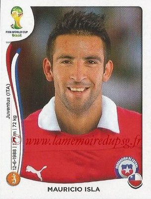 2014 - Panini FIFA World Cup Brazil Stickers - N° 154 - Mauricio ISLA (Chili)