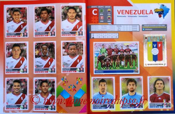 Panini Copa America Chile 2015 Stickers - Pages 36 et 37 - Pérou et Vénézuela