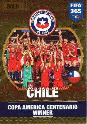 2016-17 - Panini Adrenalyn XL FIFA 365 - N° 045 - CHILI (Vainqueur Copa America 2016)