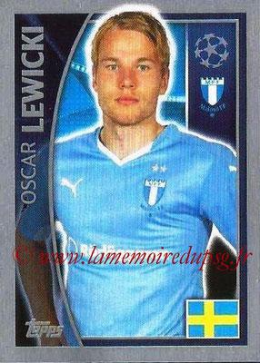 2015-16 - Topps UEFA Champions League Stickers - N° 068 - Oscar LEWICKI (Malmö FF)