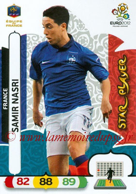 Panini Euro 2012 Cards Adrenalyn XL - N° 085 - Samir NASRI (France) (Star Player)