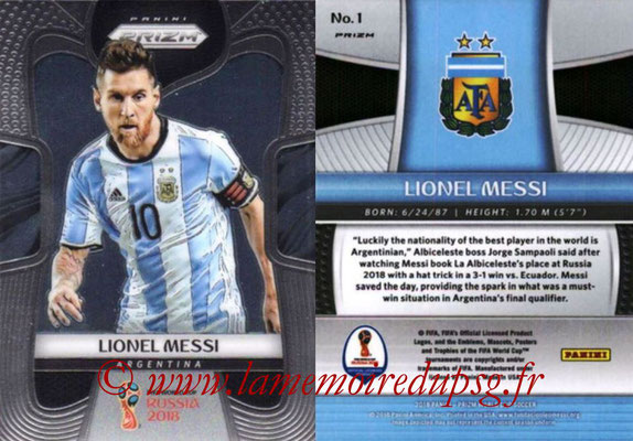 2018 - Panini Prizm FIFA World Cup Russia - N° 001 - Lionel MESSI (Argentine)