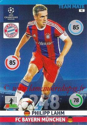 2014-15 - Adrenalyn XL champions League N° 092 - Philipp LAHM (Bayern Munich)