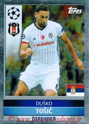 2016-17 - Topps UEFA Champions League Stickers - N° BES 3 - Dusko TOSIC (Besiktas JK)
