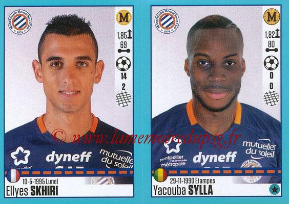 2016-17 - Panini Ligue 1 Stickers - N° 542 + 543 - Ellyes SKHIRI + Yacouba SYLLA (Montpellier)