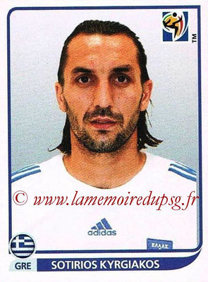 2010 - Panini FIFA World Cup South Africa Stickers - N° 166 - Sotirios KYRGIAKOS (Grèce)