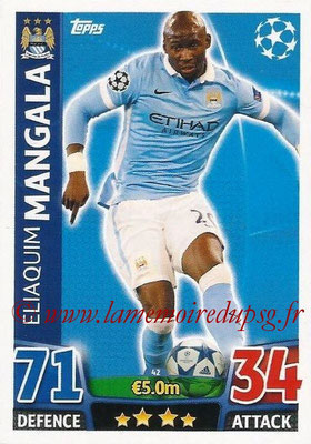 2015-16 - Topps UEFA Champions League Match Attax - N° 042 - Eliaquim MANGALA (Manchester City FC)