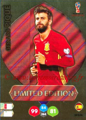 2018 - Panini FIFA World Cup Russia Adrenalyn XL - N° LE-GP - Gerard PIQUE (Espagne) (Limited Edition)