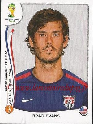 2014 - Panini FIFA World Cup Brazil Stickers - N° 556 - Brad EVANS (Etats-Unis)