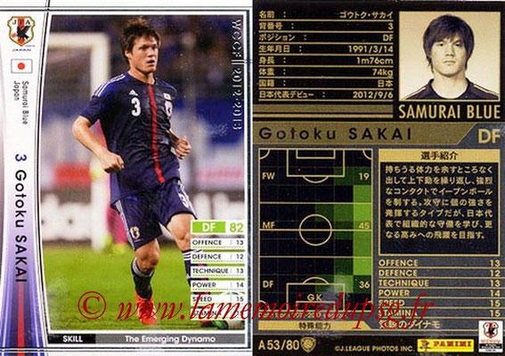 2012-13 - WCCF - N° A53 - Gotoku SAKAI (Japon)