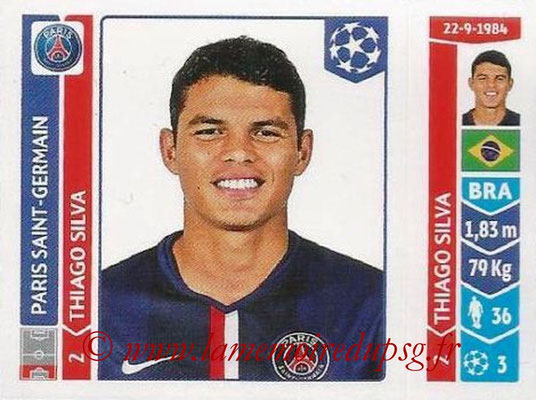 2014-15 - Panini Champions League N° 437 - Thiago SILVA (Paris Saint-Germain)
