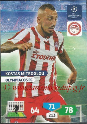 2013-14 - Adrenalyn XL champions League N° 206 - Kostas MITROGLOU (Olympiacos FC)
