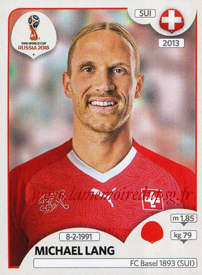2018 - Panini FIFA World Cup Russia Stickers - N° 377 - Michael LANG (Suisse)