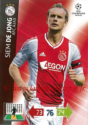 2012-13 - Adrenalyn XL champions League N° 007 - Siem DE JONG (AFC Ajax)