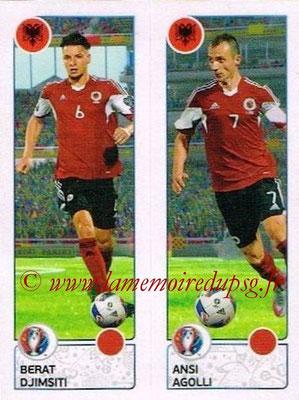 Panini Euro 2016 Stickers - N° 091 - Berat DJIMSITI + Ansi AGOLLI (Albanie)