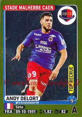 2015-16 - Panini Ligue 1 Stickers - N° 120 - Andy DELORT (SM Caen) (Top recrue)