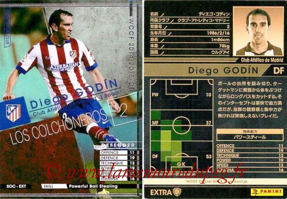 2014-15 - WCCF - N° SOC-EXT09 - Diego GODIN (Club Atletico de Madrid) (Stars of The Club) (Extra)