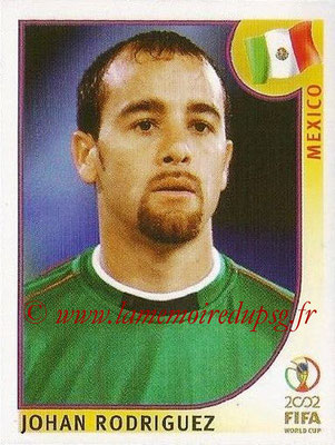 2002 - Panini FIFA World Cup Stickers - N° 502 -  Johan RODRIGUEZ(Mexique)