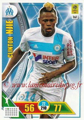 2017-18 - Panini Adrenalyn XL Ligue 1 - N° 161 - Clinton NJIE (Marseille)