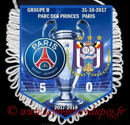 Fanion PSG-Anderlecht  2017-18