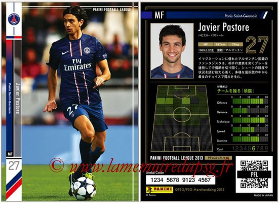 Panini Football League 2013 - PFL03 - N° 071 - Javier Pastore (Paris Saint-Germain)