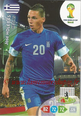 2014 - Panini FIFA World Cup Brazil Adrenalyn XL - N° 181 - José HOLEBAS (Grèce)