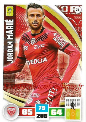 2016-17 - Panini Adrenalyn XL Ligue 1 - N° 078 - Jordan MARIE (Dijon)