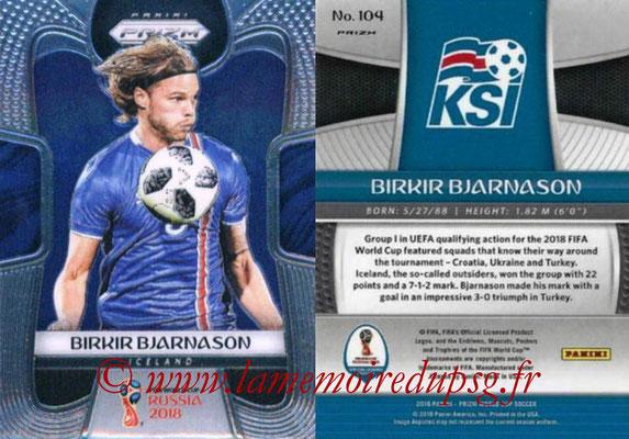 2018 - Panini Prizm FIFA World Cup Russia - N° 104 - Birkir BJARNASON (Islande)