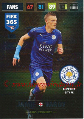 2016-17 - Panini Adrenalyn XL FIFA 365 - N° 054 - Jamie VARDY (Leicester City FC) (Fans' Favourite)
