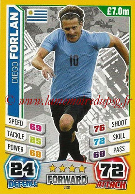 Topps Match Attax England 2014 - N° 230 - Diego FORLAN (Uruguay)