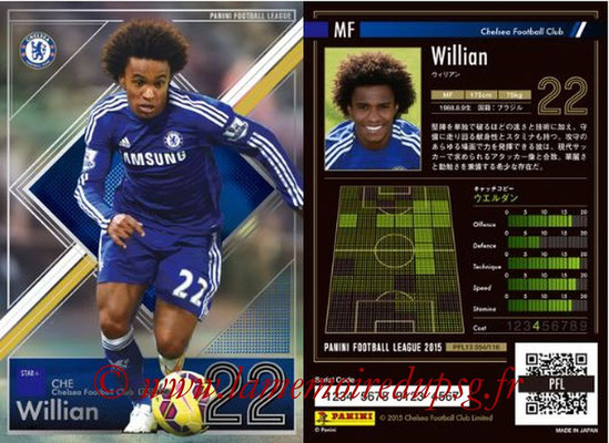 Panini Football League 2015 - PFL13 - N° 054 - WILLIAN (Chelsea FC) (Star +)