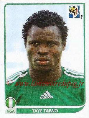 2010 - Panini FIFA World Cup South Africa Stickers - N° 129 - Taye TAIWO (Nigeria)