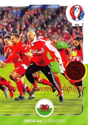Panini Euro 2016 Cards - N° 455 - Making History de Pays de Galles