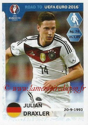 Panini Road to Euro 2016 Stickers - N° 061 - Julian DRAXLER (Allemagne)
