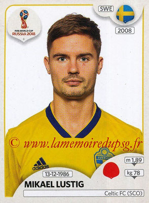 2018 - Panini FIFA World Cup Russia Stickers - N° 475 - Mikael LUSTIG (Suede)