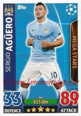 2015-16 - Topps UEFA Champions League Match Attax - N° N11 - Sergio AGUERO (Manchester City FC) (Mega Stars) (Nordic Edition)