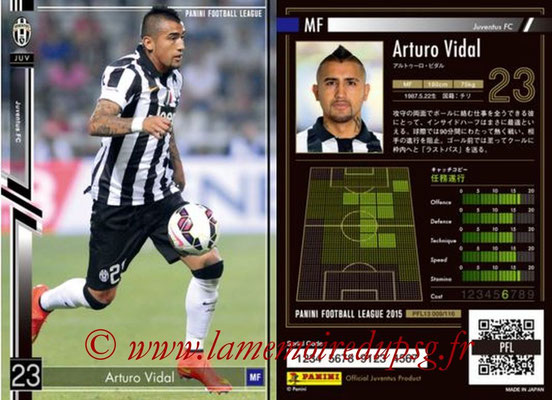 Panini Football League 2015 - PFL13 - N° 009 - Arturo VIDAL (Juventus FC)