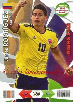 2014 - Panini Road to FIFA World Cup Brazil Adrenalyn XL - N° 034 - James RODRIGUEZ (Colombie) (Rising Star)