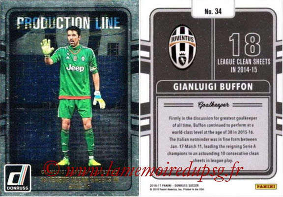 2016 - Panini Donruss Cards - N° PL34 - Gianluigi BUFFON (Juventus FC) (Production Line)