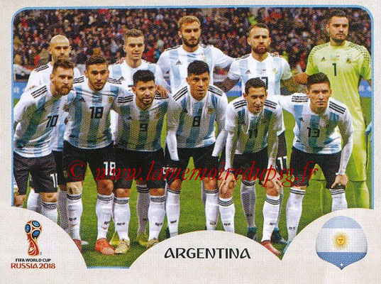 2018 - Panini FIFA World Cup Russia Stickers - N° 273 - Equipe Argentine