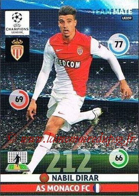 2014-15 - Adrenalyn XL champions League Update edition N° UE059 - Nabil DIRAR (AS Monaco)