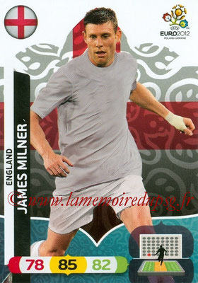 Panini Euro 2012 Cards Adrenalyn XL - N° 051 - James MILNER (Angleterre)