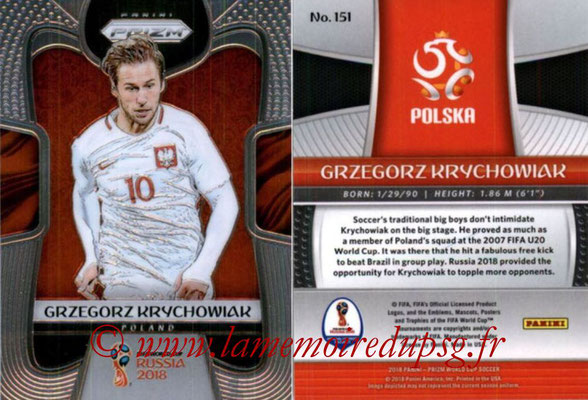 2018 - Panini Prizm FIFA World Cup Russia - N° 151 - Grzegorz KRYCHOWIAK (Pologne)