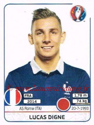 Panini Euro 2016 Stickers - N° 023 - Lucas DIGNE (France)