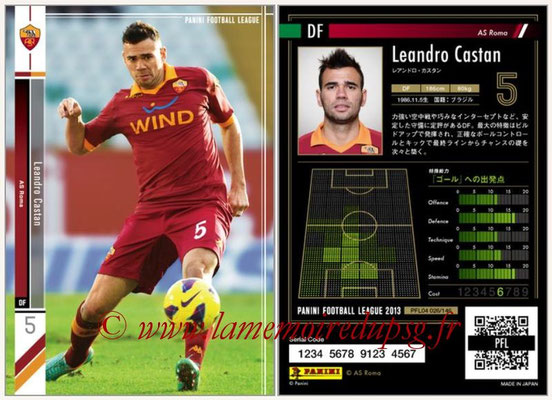Panini Football League 2013 - PFL04 - N° 026 - Leandro CASTAN (AS Roma)